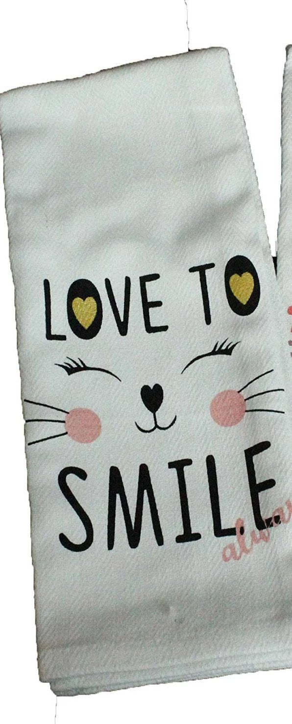 Love To Smile Always Dish Towel Dish Towel