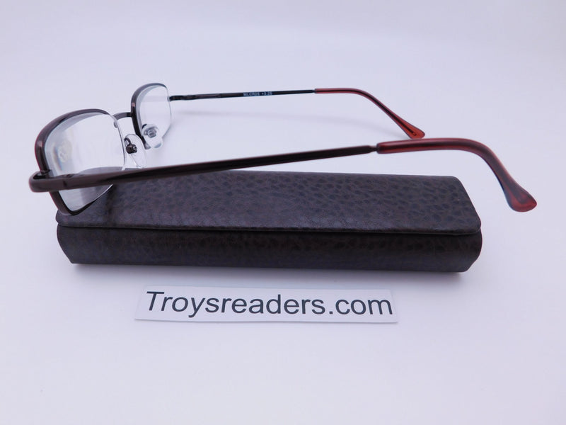 Magnetic Leather Metal Readers With Case in Four Colors Reader with Display