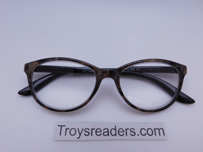 Marble Cat Eye Reading Glasses in Four Colors Reader no Case Tan Marble +4.00