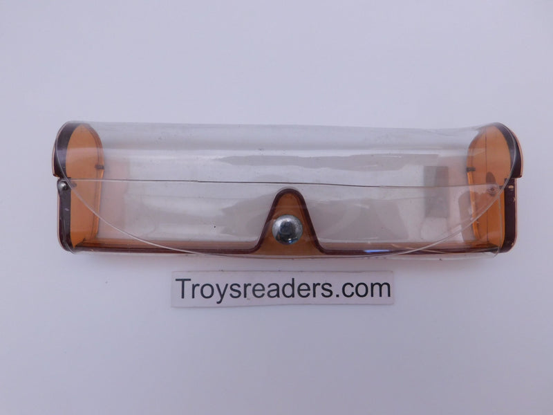 Medium Clear Plastic Case in Sixteen Colors Cases Brown