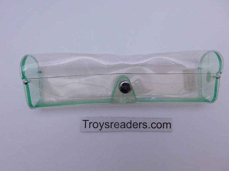 Medium Clear Plastic Case in Sixteen Colors Cases Green