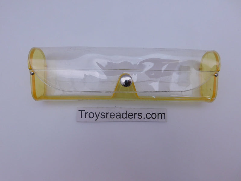 Medium Clear Plastic Case in Sixteen Colors Cases Yellow