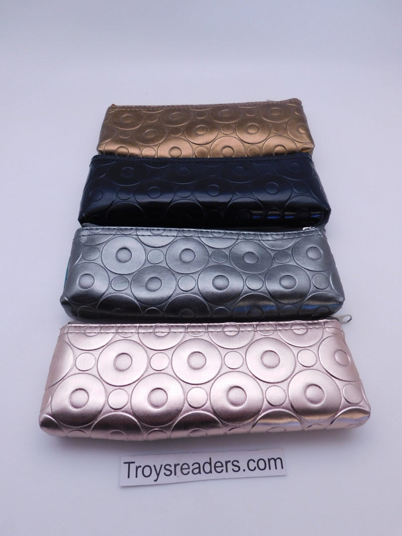 Metallic Zipper Soft Pouch in Four Colors Cases