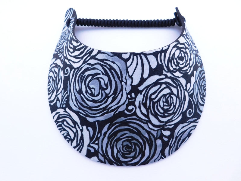 Miracle Foam Sun Visor Black and White Roses Foam Visors