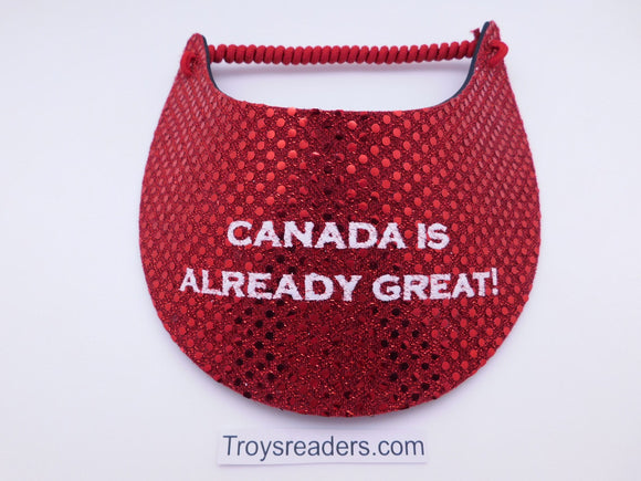 Miracle Foam Sun Visor Canada Is Already Great! Red Glitz Foam Visors