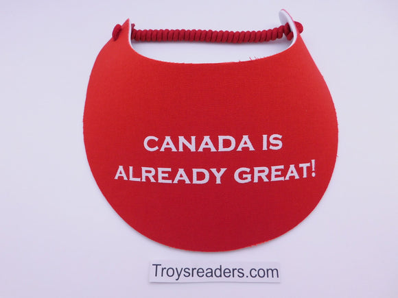 Miracle Foam Sun Visor Canada Is Already Great! Red Solid Foam Visors