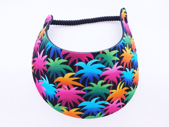 Miracle Foam Sun Visor Colorful Palm Trees Foam Visors