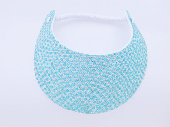 Miracle Foam Sun Visor Light Blue Glitz Print Foam Visors