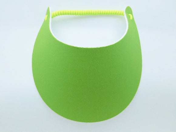 Miracle Foam Sun Visor Lime Green Solid Print Foam Visors