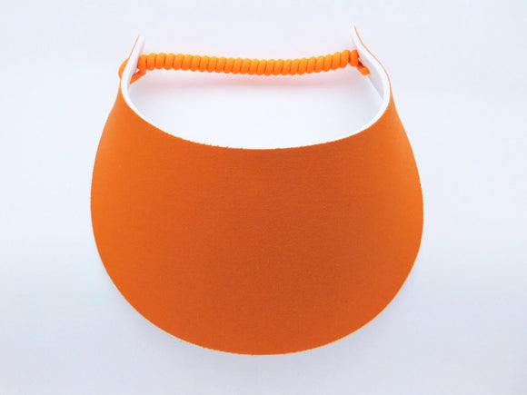 Miracle Foam Sun Visor Orange Solid Print Foam Visors