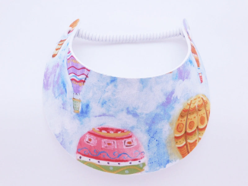 Miracle Foam Sun Visor Pastel Hot Air Balloons Foam Visors