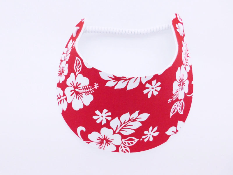 Miracle Foam Sun Visor Red Hawaiian Print Foam Visors