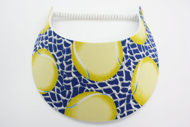 Miracle Foam Sun Visor Tennis Balls on Blue Foam Visors