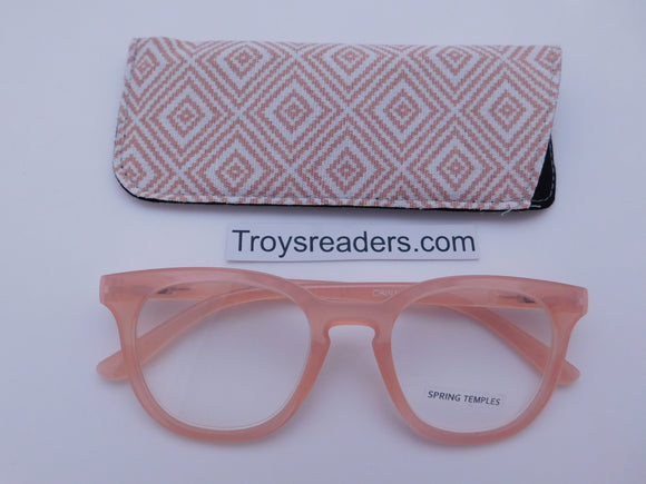 Modern Keyhole Readers With Case in Four Colors Reader with Display Pink +1.25