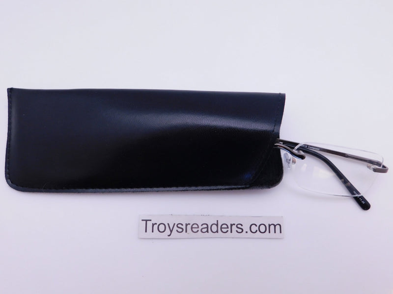 Padded Faux Leather Glasses Sleeve/Pouch in Two Colors Cases