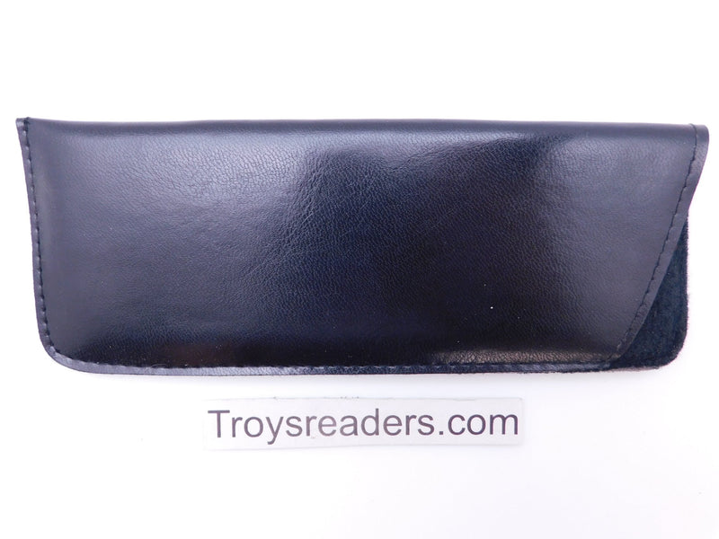 Padded Faux Leather Glasses Sleeve/Pouch in Two Colors Cases Black