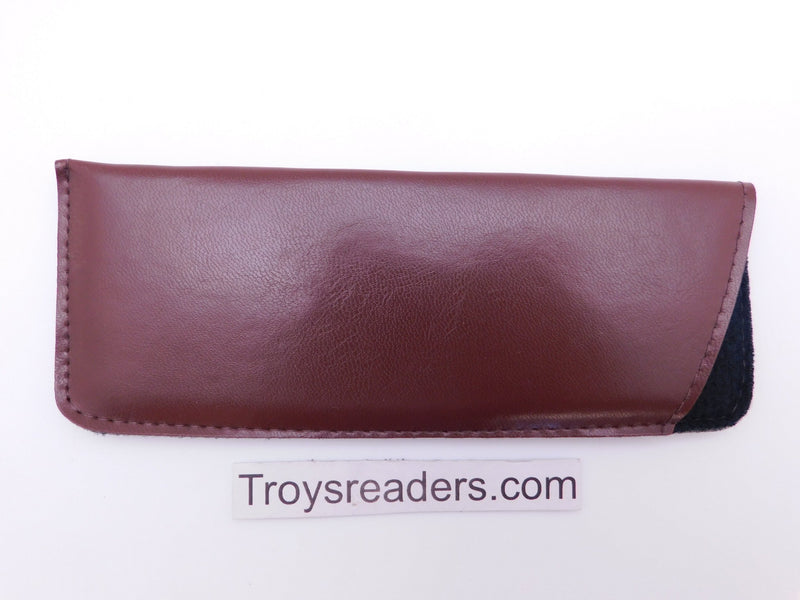 Padded Faux Leather Glasses Sleeve/Pouch in Two Colors Cases Brown