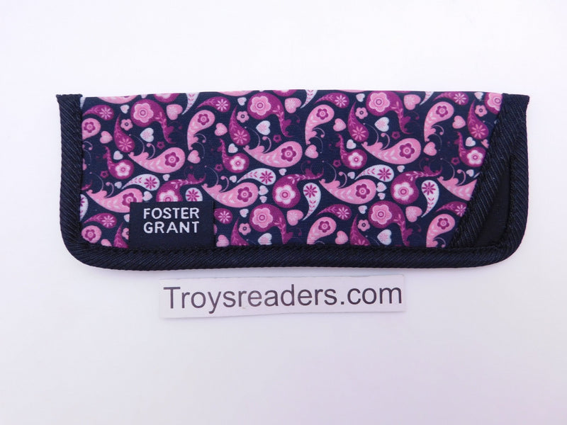 Paisley Glasses Sleeve in Five Designs Cases Purple Paisley