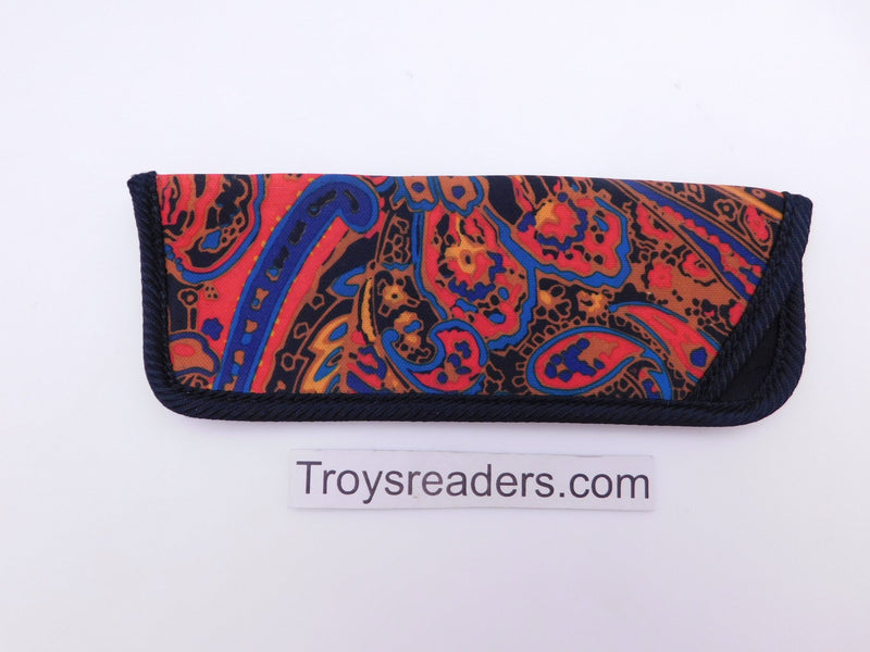 Paisley Glasses Sleeve in Five Designs Cases Red and Blue Paisley