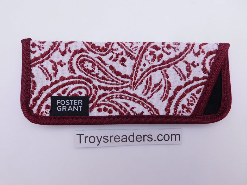 Paisley Glasses Sleeve in Five Designs Cases Red and White Paisley