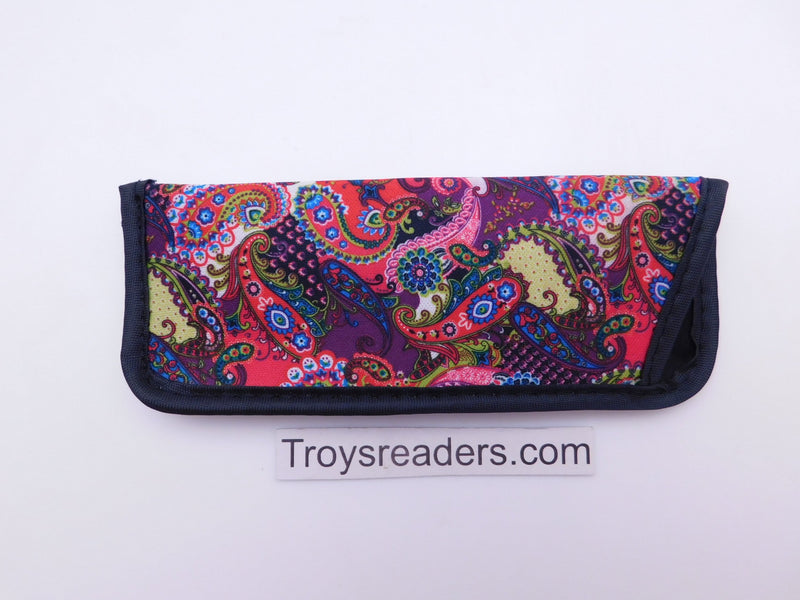 Paisley Glasses Sleeve in Five Designs Cases Red Pink and Purple Paisley