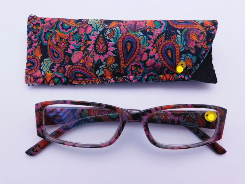 Paisley Readers With Case in Four Colors Reader with Display Multi-Color +1.25