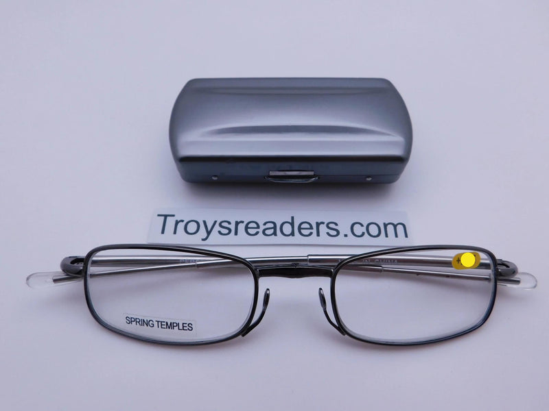 Periscope Folding Readers With Metal Case in Five Colors Reader with Display Silver +1.00