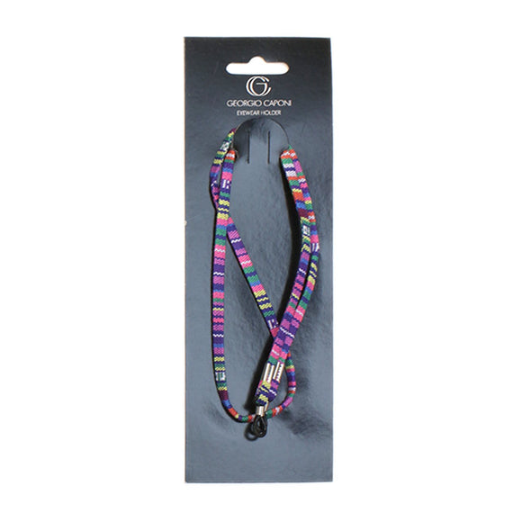 Pink & Purple Fabric Chain Eyewear Holder Cords