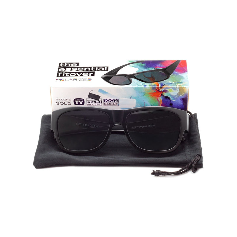 Polarized Fitover Sunglasses with Cloth Case Fit Over Sunglasses