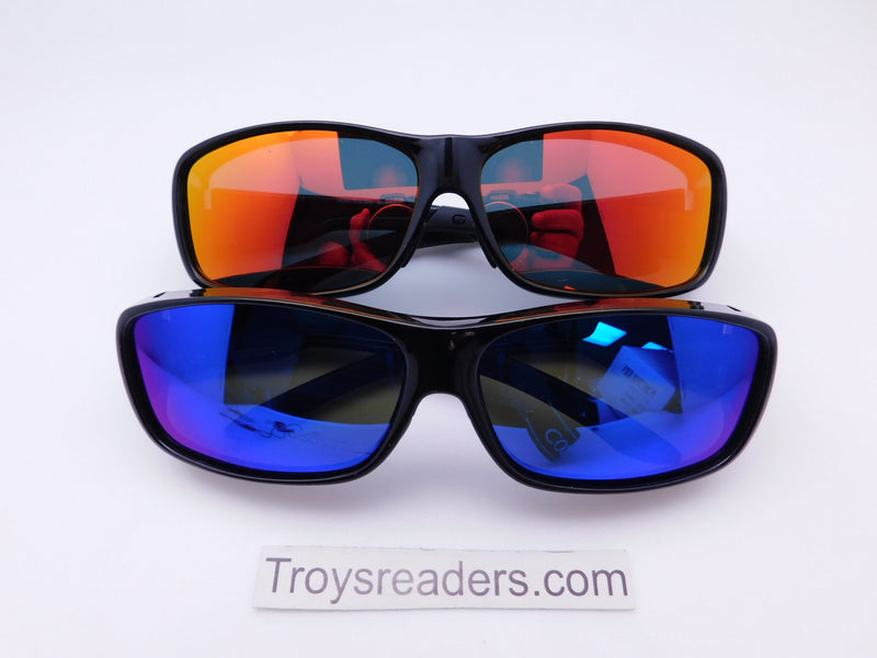 Polarized Mirrored Fit Overs in Two Colors Fit Over Sunglasses