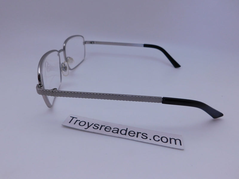 Rectangular Metal Frame Clear Bifocal Reading Glasses in Two Colors Clear Bi-focal