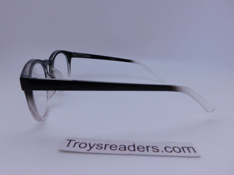 Retro Wayfarer Clear Bifocal Reading Glasses in Three Colors Clear Bi-focal