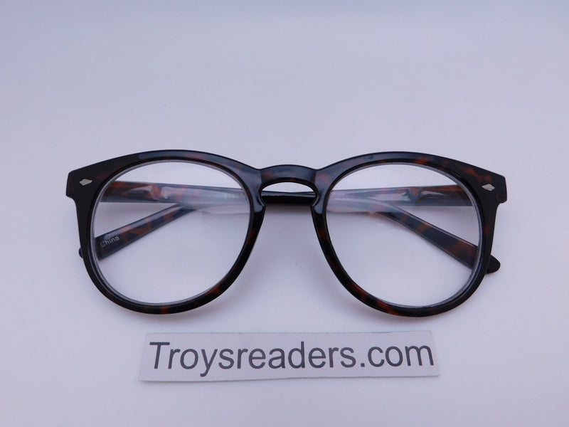 Retro Wayfarer Clear Bifocal Reading Glasses in Three Colors Clear Bi-focal Tortoise +1.00
