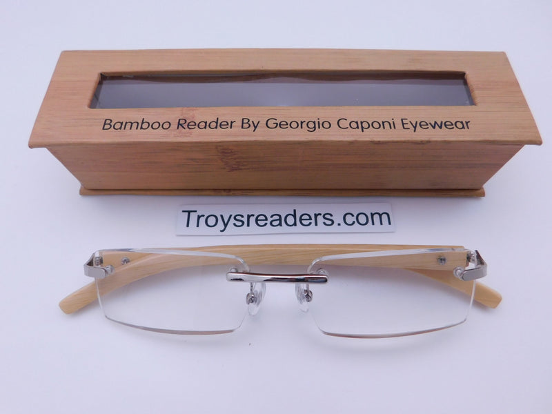 Rimless Bamboo Readers With Box Reader with Display