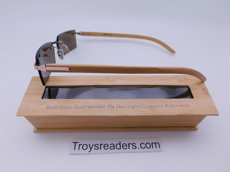 Rimless Bamboo Sun Readers With Box Reader with Display