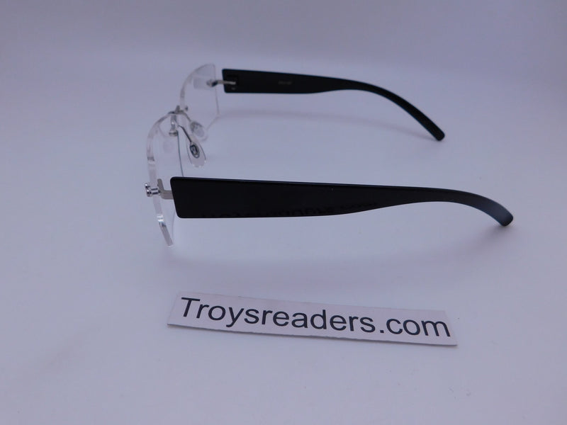 Rimless Clear Bifocal Reading Glasses in Two Colors Clear Bi-focal