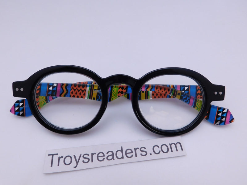 Round Readers in Four Colors Reader no Case Black +1.00