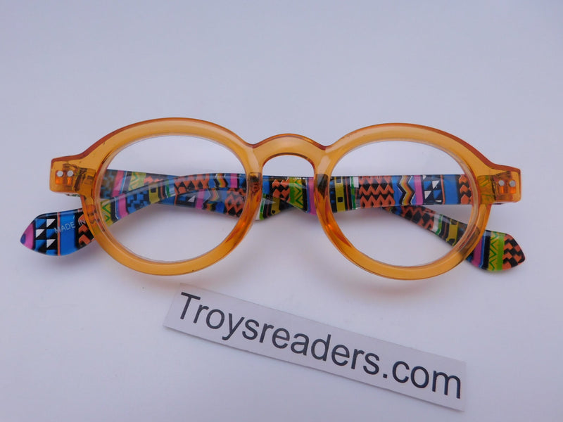 Round Readers in Four Colors Reader no Case Transparent Orange +1.00