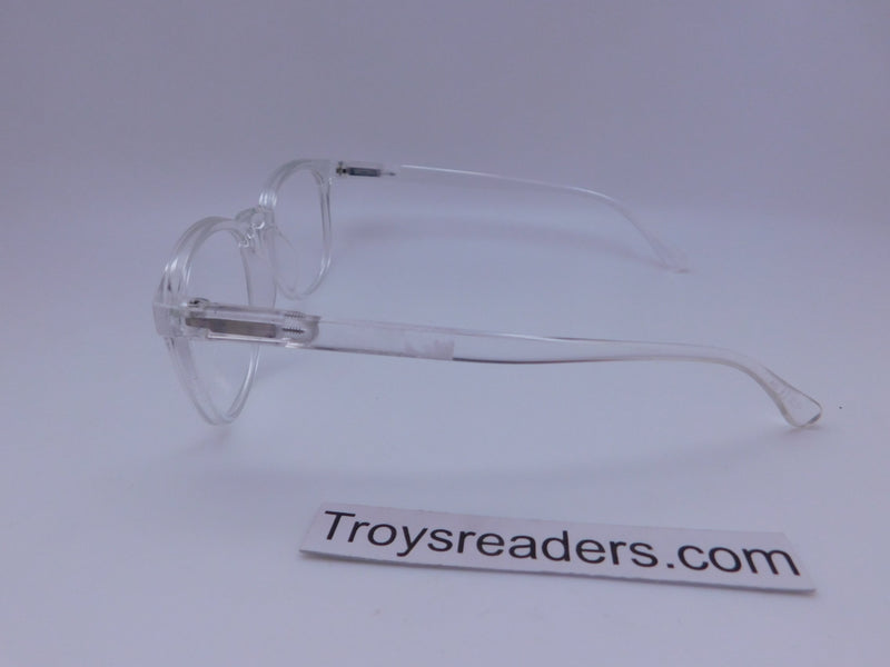Rounded Clear Bifocal Reading Glasses in Four Colors Clear Bi-focal
