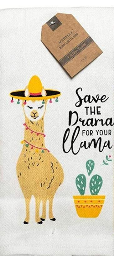 Save The Drama For Your Lama Dish Towel Dish Towel