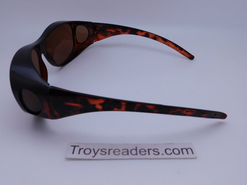 Small Amber Fit-Overs Fit Over Sunglasses