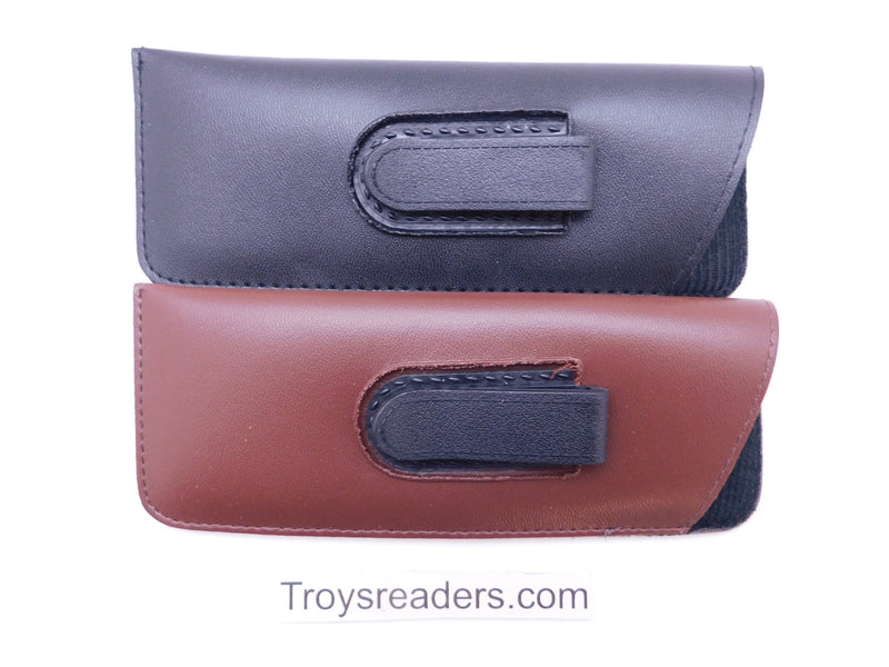 Small Faux Leather Glasses Sleeve/Pouch with Belt Clip in Three Colors Cases
