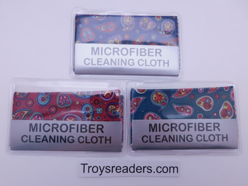 Small Paisley Microfiber Cleaning Cloth With Case In Three Colors Cleaner