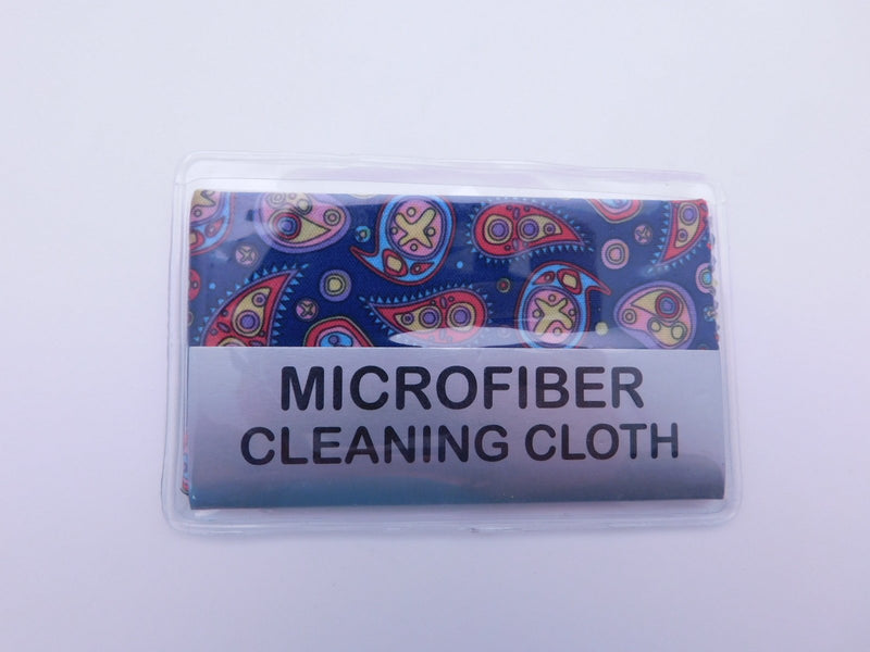 Small Paisley Microfiber Cleaning Cloth With Case In Three Colors Cleaner Blue