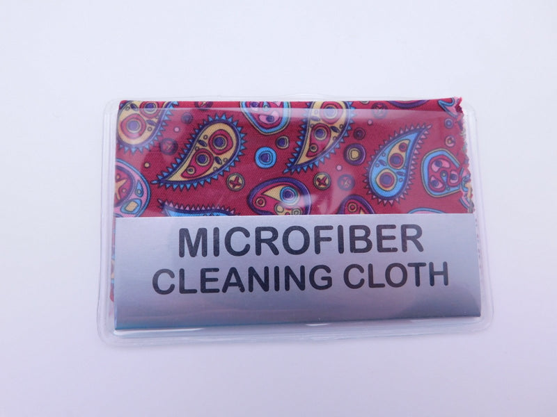 Small Paisley Microfiber Cleaning Cloth With Case In Three Colors Cleaner Burgundy