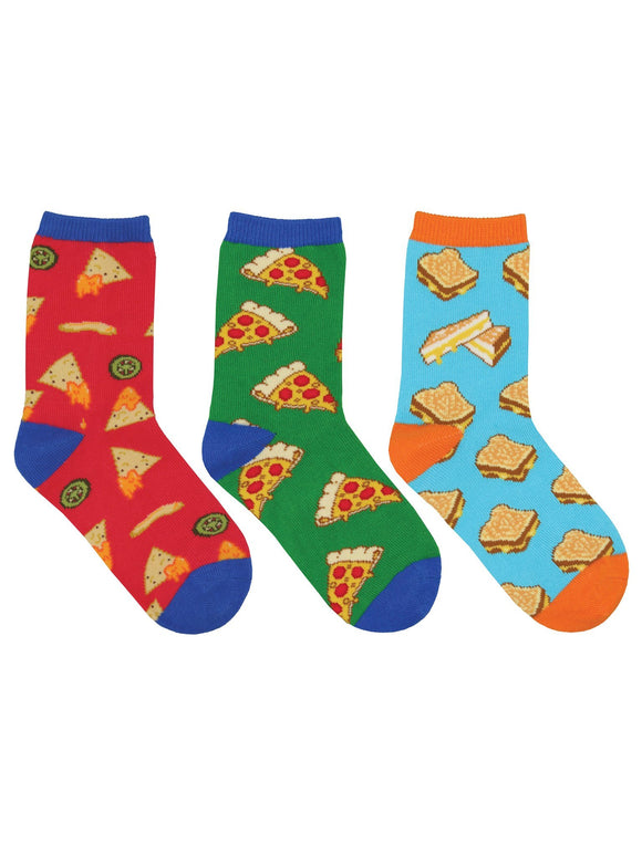 SockSmith Kids A Little Cheesy 3-Pack Socks