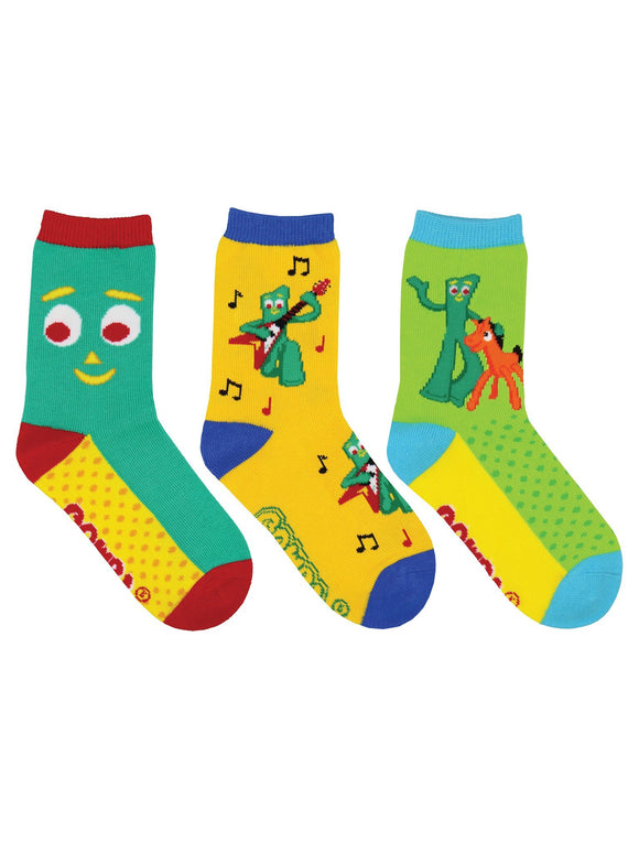 SockSmith Kids Gumby 3-Pack Socks