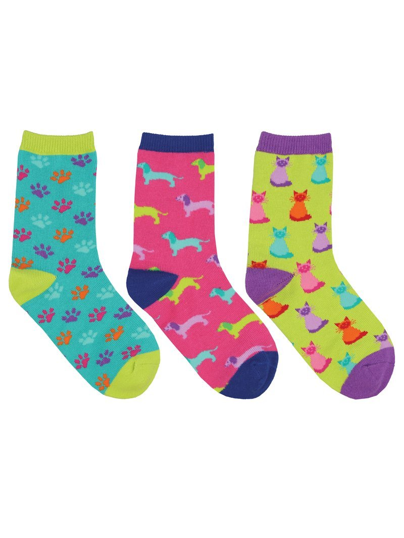 SockSmith Kids Paws And Claws 3-Pack Socks
