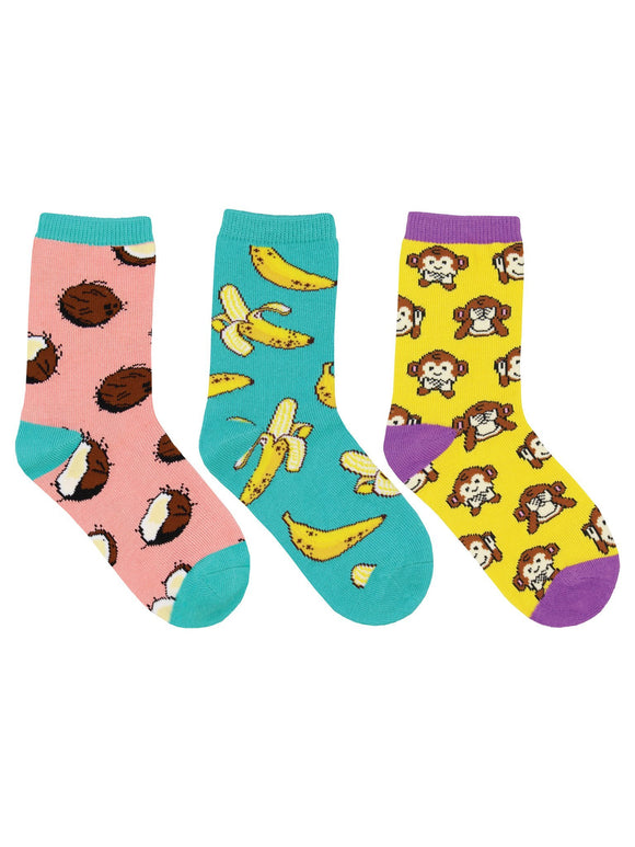 SockSmith Kids Spunky Monkey 3-Pack Socks