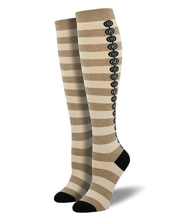 SockSmith Knee High Button Backseam Socks